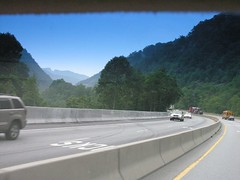Traveling on the Mountainous Interstate in Nor...