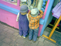 Window Kids (click_click) Tags: ireland tag3 taggedout kids children stuffed model tag2 tag1 kerry kenmare