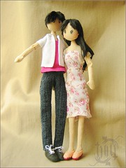 doll couple (ccyytt) Tags: stuffed couple doll handmade sewing crafts clothdoll