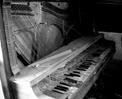 melody for a ghost (Opal in the rough) Tags: old broken keys piano dirt instrument strings dust destroyed ruined hammers