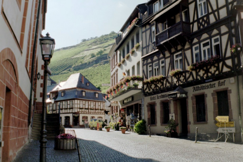 Standing on a Corner in Bacharach