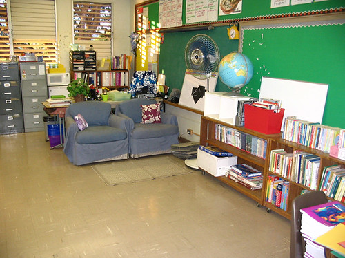 """classroom and the infamous """"blue chairs"""""""