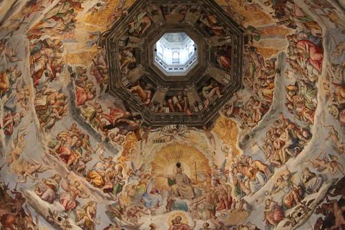 A Renaissance frescoe in the Duomo de Firenze