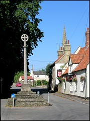Digby, Lincolnshire (Lincolnian (Brian) - BUSY, in and out) Tags: england beautiful village lovely1 lincolnshire abc digby celticcross 50club