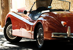 Red Jaguar XK140