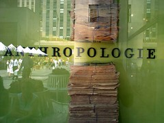 Anthropologie 8/3/06 (Brooklyn Hilary) Tags: nyc newyorkcity ny art window newspaper store clothing display manhattan rockefellercenter august 2006 anthropologie