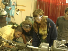 is it working? (arwen o'reilly griffith) Tags: howto lathe tuningfork august2006
