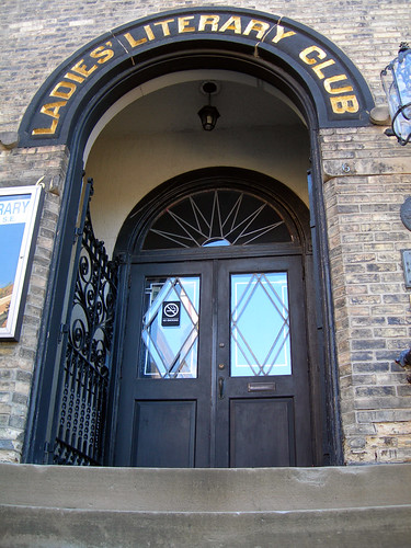 Ladies Literary Club Outside Entrance Picture