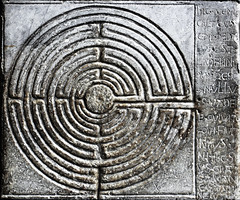 The Spiritual Roadmap (Nad) Tags: italy church stone cathedral spirit jerusalem religion lucca carving puzzle maze knees pilgrimage engrave