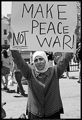 Make Peace (danny.hammontree) Tags: blackandwhite bw lebanon usa art march israel washingtondc washington bush districtofcolumbia nikon war peace unitedstates iran god palestine flag muslim georgewbush fear faith georgebush politics iraq whitehouse rally religion protest d2x middleeast photojournalism saturday august 2006 christian demonstration arab antiwar violence jew jewish zionism judaism antibush nikkor fascism beirut lafayettepark israeli activist liban violent  palestinian occupation orthodoxjews waronterror marches rallies coexist  hammontree digitalgrace nikond2x  peacemovement dannyhammontree wwwdigitalgracecom warsucks  sfchronicle96hours freelebanon       20060812