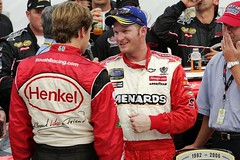 Carl & Dale @ MIS '06 - Busch Race in Victory Lane (*~*Celestial*~*) Tags: ford chevrolet brooklyn track dale michigan 8 jr victory international lane carl nascar driver series edwards earnhardt 60 henkel 250 busch speedway collision carfax manville daleearnhardtjr carledwards menardsjohns