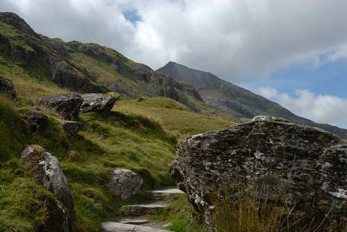 Back up towards Crib Goch