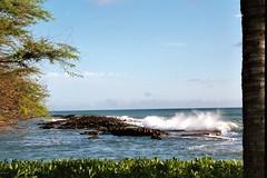 Paradise Cove, HI (Girly Wolf) Tags: sky usa beach water photo oahu wave hi crashingwave