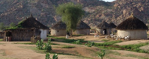 Village houses in Gash Barka (Western Eritrea)