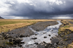 From a distance, there is harmony (OR_U) Tags: 2016 oru iceland landscape weather river sky clouds rain storm water rocks