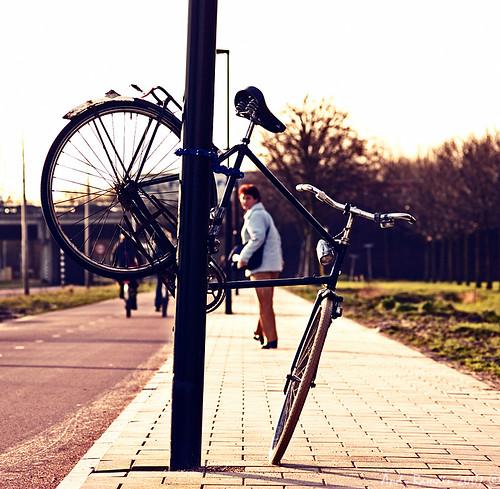 Hoe parkeer ik mijn fiets?