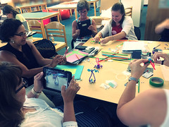 Bristlebot making (diane horvath) Tags: teachers makerspace bristlebots medfieldtech