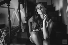 Cristina, from the inner series (Davide Lagan // Ditti) Tags: light shadow portrait woman white black cute home window girl fashion canon eos lights casa donna model eyes mood natural bokeh body cristina carina style ombre finestra occhi reggiocalabria luci bianco ritratto stile nero luce ragazza 6d naturale sigma35mm14dghsmart