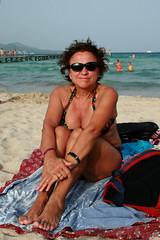 Playa de Muro (SergioBarbieri) Tags: espaa mediterraneo bronzage bronzer balearicislands maiorca spiaggialibera tintarella playademuro nonnagiuly plagelibre golfodialcudia