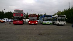 Line up at Walsall Bus Garage (twmmcw111999) Tags: travel west bus garage national express spectra walsall midlands optare mercades 0405n