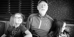bus ride with Grandpa (LarrynJill) Tags: bus or ducks eugene larry uo evie mady