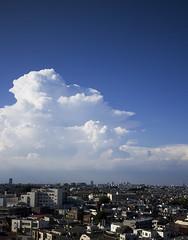 CLOUDS (Jussi Salmiakkinen (JUNJI SUDA)) Tags: summer sky japan clouds tokyo cityscape  ogikubo      suginami