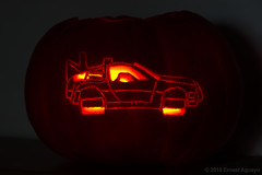 2015 Pumpkin: DeLorean Time Machine from Back to the Future II (aguayo) Tags: film halloween movie pumpkin october geek jackolantern bttf carving illuminated scifi timetravel lit doc delorean dmc12 marty dmc geeky backtothefuture mcfly timemachine litup 2015 greatscott 121gigawatts mrfusion yourdensity