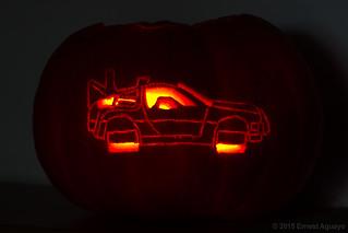 2015 Pumpkin: DeLorean Time Machine from Back to the Future II