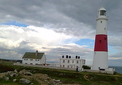 By Portland Bill Lighthouse (southglosguytwo) Tags: sky signs clouds buildings september dorset cameraphoneshot 2015 portlandbilllighthouse weymouthportland variouspeople