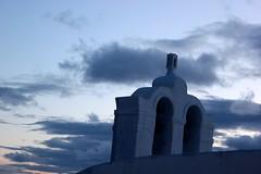 Grey (Nagarjun) Tags: blue sunset sun white church island volcano evening europe glow santorini caldera oia cyclades mediterranian firostefani aegeansea
