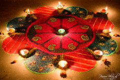 Diwali Rangoli (_DSF5430) (Param-Roving-Photog) Tags: india festival lights colours handmade decoration clay diwali deepawali rangoli diya oillamp divaa
