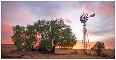Windmill (tim_kavanagh) Tags: sunset windmill outback southaustralia hdr goldenhour terowie