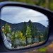 Reflections in a Car Window Mirror (Rocky Mountain National Park)