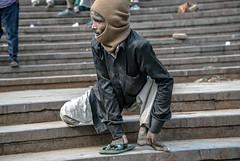 INDIA7398 (Glenn Losack, M.D.) Tags: street people india portraits photography delhi muslim islam prayer poor photojournalism buddhism impoverished beggar flip flops local hindu scenics handicapped deformed beggars jama mashid glennlosack losack glosack dahlits