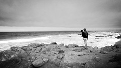 Carmel-by-the-Sea (livia.versini) Tags: ocean california blackandwhite monochrome cali pacific carmel pointlobos