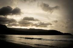 Copy of Kauai b&w63 (chiarina2016) Tags: kauai hawaii island beach monotone blackandwhite chiarinaloggia stormyseas waves trails hiking surf hanalei hanaleibeach sunset balihai