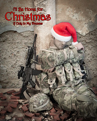 """Ill Be Home for Christmas"" (edwicks_toybox) Tags: 16scale actionfigure christmas m4 multicam rifle santahat soldier soldierstory"