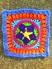 Crochet Square B-3 (crochetbug13) Tags: crochetbug crocheted crocheting grannysquare crochetsquare multicolor grannysquaresampler crochetafghan crochetblanket crochet star
