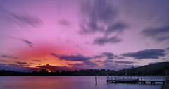 Sunset @ Lake Burley Griffin (Ranie D) Tags: nikond90 nikon1755f28 nd10 10stops longexposure lake lakeburleygriffin sunset water outdoor clouds warf seascape