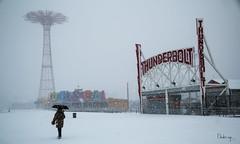 CONEY (snowy) ISLAND (BUSTER NYC) Tags: snow island thunder bolt boardwalk coney