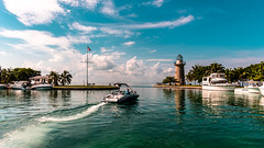 Sea walk through Biscayne National Park. (The Sergeant AGS (A city guy)) Tags: biscaynenationalpark yacht seashore sea seascape blue waterways seawalk exploration walkways navigating water travelling tourism unitedstates skies