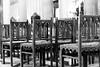 Chairs (petia.balabanova(tnx for +2 million views)) Tags: blackandwhite monochrome bw chairs church palermo sicily travel nikond800 2470mm composition