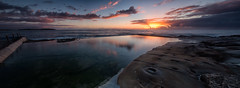 Dee Why Sunrise Pano (RoosterMan64) Tags: australia deewhy landscape longexposure nsw northernbeaches oceanpool rockshelf seascape sunrise
