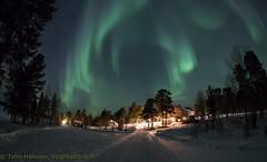 Again a good night (Hotel Korpikartano) Tags: korpikartanofi menesjarvi auroraborealis aurora polarnight inarilapland laplandfinland northernlights revontulet lapland finland finnishlapland
