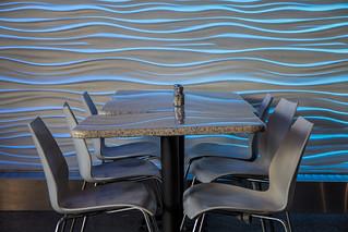 Empty Table in Café, National Aquarium in Baltimore