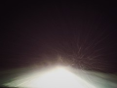 40 км пути позади. 4 колеса везут 6 ног домой. Бьет по стеклам снег, приход состоялся..