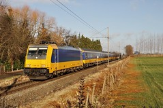 "Statische/dynamisch radiotestrit met de NSR E186122 (zonder NS-logo) en NSR IC ""Benelux"" /// Static/dynamic radio test drive with E186122 and the NSR NSR IC ""Benelux"""