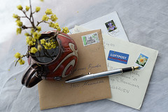 Letters (adelina_tr) Tags: letters post pen flowers 7dwf crazytuesday stilllife