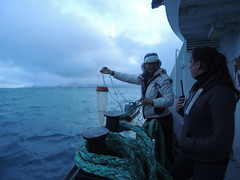 Sampling for microalgues (NoukLy) Tags: hiver winter sea boat sampling science microbiology reykjavik iceland islande mer bateau echantillonnage microbiologie research