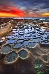 Tide Pools Sunset (David Shield Photography) Tags: tidepools lajolla sandiego california coast ocean landscape seascape sunset sky clouds longexposure potholes lowtide color light nikon explore explored